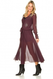 Patrizia Pepe |  See-through skirt with rhinestones Lana | purple  | Picture 3