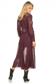 Patrizia Pepe |  See-through skirt with rhinestones Lana | purple  | Picture 5