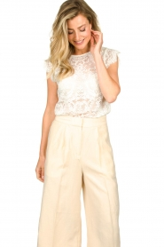 Set |  Lace top Abbey | white  | Picture 5