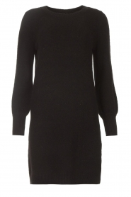 Knit-ted |  Knitted dress Julia | black  | Picture 1