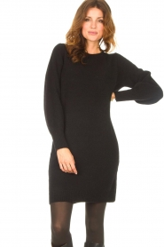 Knit-ted |  Knitted dress Julia | black  | Picture 2