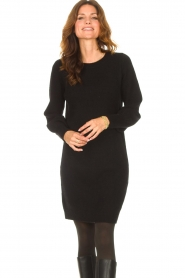 Knit-ted |  Knitted dress Julia | black  | Picture 4