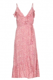 BEACHGOLD |  Leopard printed midi wrap dress Lottie | pink  | Picture 1