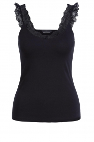 Set |  Sleeveless top with ruffles Aivey | black  | Picture 1