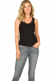Set |  Sleeveless top with ruffles Aivey | black  | Picture 2