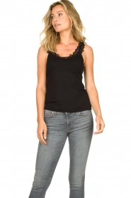 Set |  Sleeveless top with ruffles Aivey | black  | Picture 3