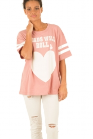 Essentiel Antwerp | T-shirt Loucas | roze  | Afbeelding 2