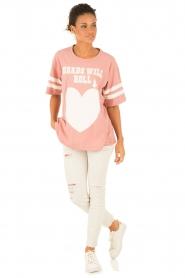 Essentiel Antwerp | T-shirt Loucas | roze  | Afbeelding 3