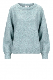 Knit-ted |  Mottled sweater Anna | blue  | Picture 1