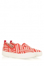 What For | Slip on schoenen Carla | Rood  | Afbeelding 3