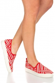 What For | Slip on schoenen Carla | Rood  | Afbeelding 2