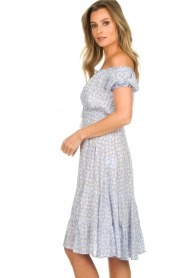 BEACHGOLD |  Dress with floral print Harper | blue  | Picture 5