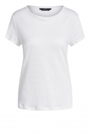 Set |  Basic linen T-shirt Anna | white  | Picture 1