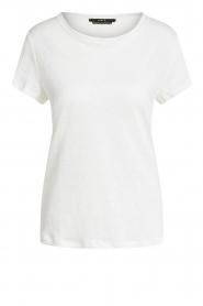 Set | Basic linnen T-shirt Anna | wit  | Afbeelding 1
