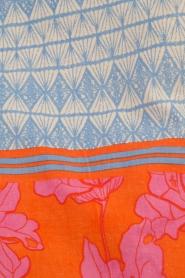 Becksöndergaard | Strandtas Jeanne | oranje/blauw  | Afbeelding 4