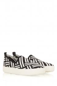 What For | Slip on schoenen Carla | Zwart  | Afbeelding 3