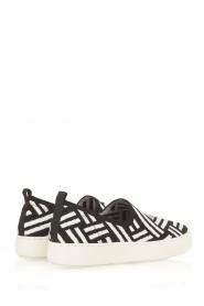 What For | Slip on schoenen Carla | Zwart  | Afbeelding 4