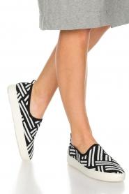 What For | Slip on schoenen Carla | Zwart  | Afbeelding 2