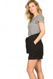Set    Striped linen T-shirt Anna   black & white    Picture 4