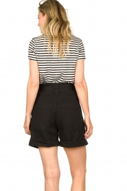 Set    Striped linen T-shirt Anna   black & white    Picture 5