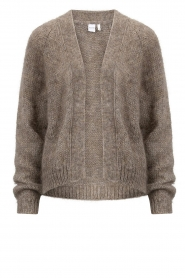 Knit-ted |  Knitted cardigan Hailey | brown  | Picture 1