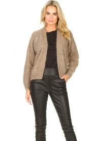Knit-ted    Knitted cardigan Hailey   brown    Picture 2