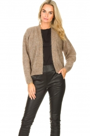 Knit-ted    Knitted cardigan Hailey   brown    Picture 4