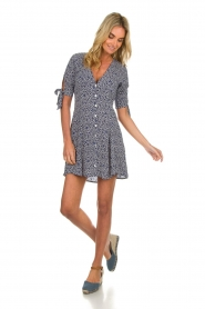 BEACHGOLD |  Dress with floral design Marie | blue  | Picture 3