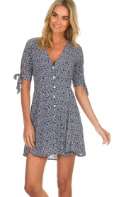 BEACHGOLD |  Dress with floral design Marie | blue  | Picture 2