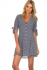 BEACHGOLD |  Dress with floral design Marie | blue  | Picture 4