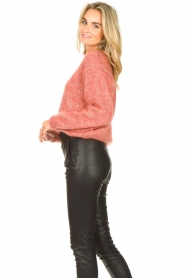 Knit-ted |  Knitted sweater Stephanie | pink  | Picture 5