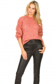 Knit-ted |  Knitted sweater Stephanie | pink  | Picture 4