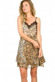 Set |  Sleeveless top with lace Aletta | animal print  | Picture 4