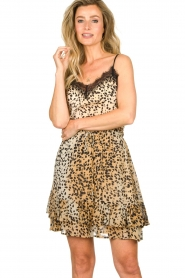 Set |  Sleeveless top with lace Aletta | animal print  | Picture 2