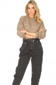 Knit-ted | Gebreide trui Stephanie | bruin  | Afbeelding 2