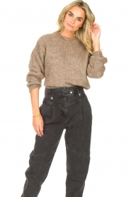 Knit-ted | Gebreide trui Stephanie | bruin  | Afbeelding 4