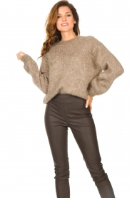 Knit-ted |  Knitted sweater Stephanie | brown  | Picture 2
