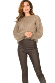 Knit-ted |  Knitted sweater Stephanie | brown  | Picture 4