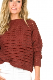 Set |  Knitted sweater Allister | bordeaux  | Picture 7