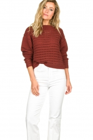 Set |  Knitted sweater Allister | bordeaux  | Picture 4