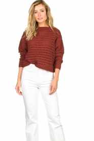 Set |  Knitted sweater Allister | bordeaux  | Picture 2