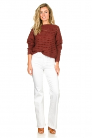 Set |  Knitted sweater Allister | bordeaux  | Picture 3