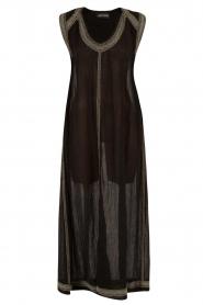Antik Batik | Beachwear maxijurk Conca | zwart  | Afbeelding 1