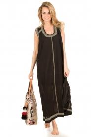 Antik Batik | Beachwear maxijurk Conca | zwart  | Afbeelding 2