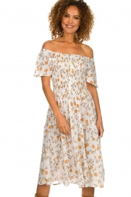 BEACHGOLD |  Dress with sunflower print Jenny | natural  | Picture 2