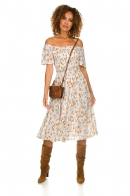 BEACHGOLD |  Dress with sunflower print Jenny | natural  | Picture 3