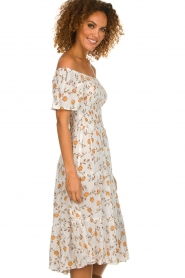 BEACHGOLD |  Dress with sunflower print Jenny | natural  | Picture 5