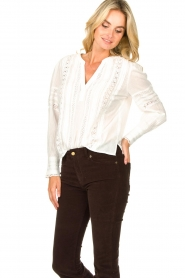 Set |  Blouse with ajour details Amee | white  | Picture 4