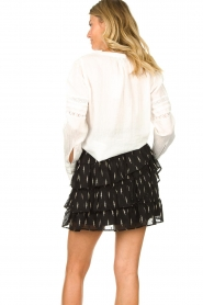 Set |  Blouse with ajour details Amee | white  | Picture 6