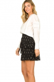 Set    Blouse with ajour details Amee   white    Picture 5